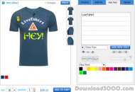 Online T-Shirt Design Software screenshot